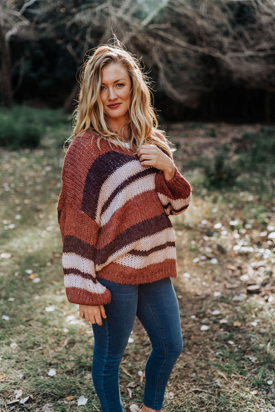 Vinnie Knit - Rust Stripe
