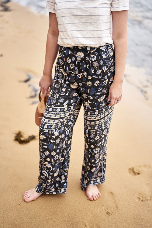 Wide Leg Pattern Pants
