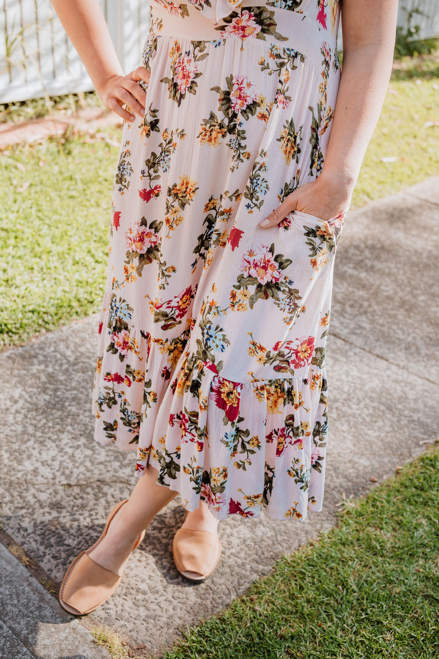 Zara Dress - Blush Floral