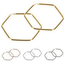 Lade das Bild in den Galerie-Viewer, 1-modabile-hexagon-creole-ohrring-925-sterling-vergoldet-gold