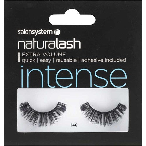 Salon System Naturalash Double Lashes - 146 Black (Intense)