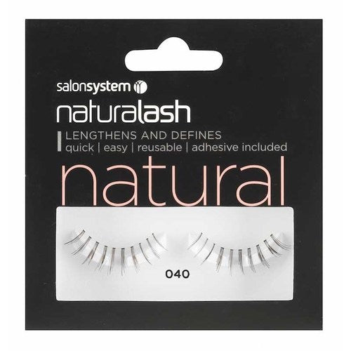 Salon System Naturalash Strip Lashes - 040 Black Underlash (Natural)