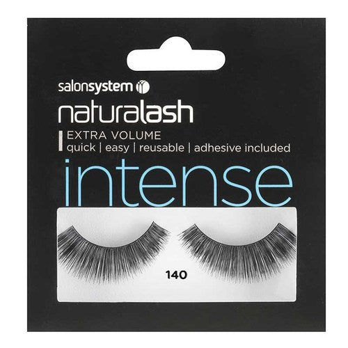 Salon System Naturalash Strip Lashes - 140 Black (Intense)