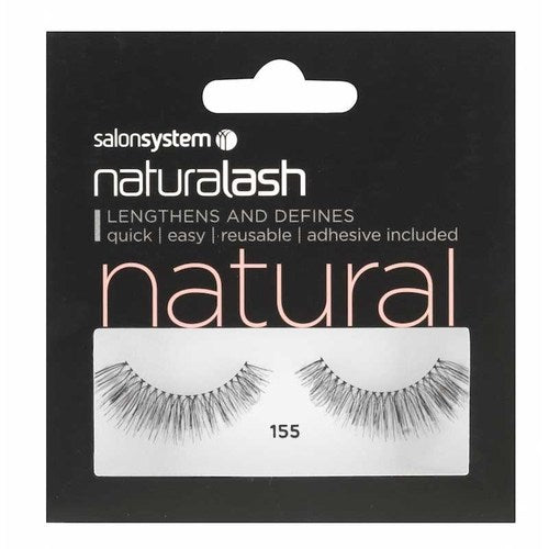 Salon System Naturalash Strip Lashes - 155 Black (Natural)