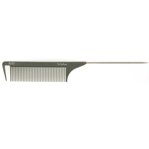 Via Salon 505 Wide Tooth Rat Tail Comb