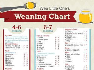 Baby Weaning Chart