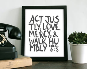 Act Justly - Art Print