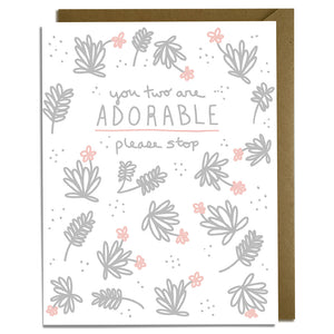 Adorable Couple Wedding Card