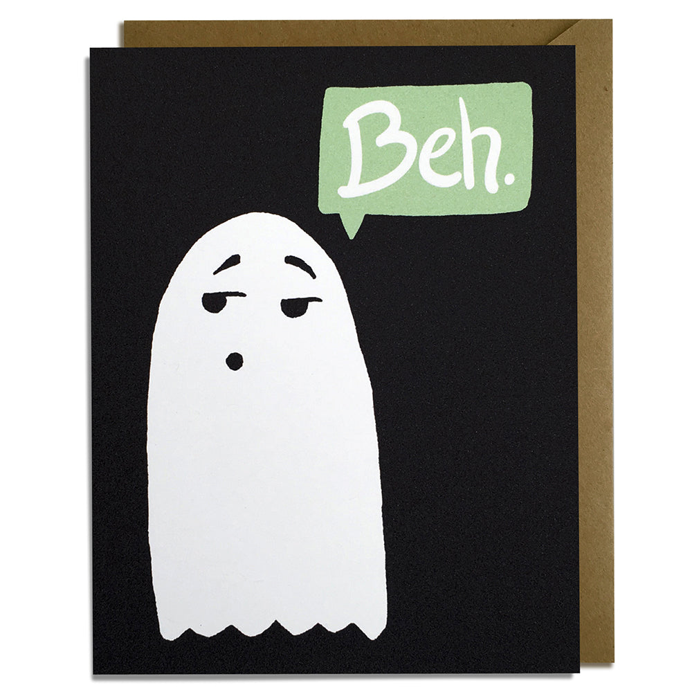 Beh Ghost - Halloween Card