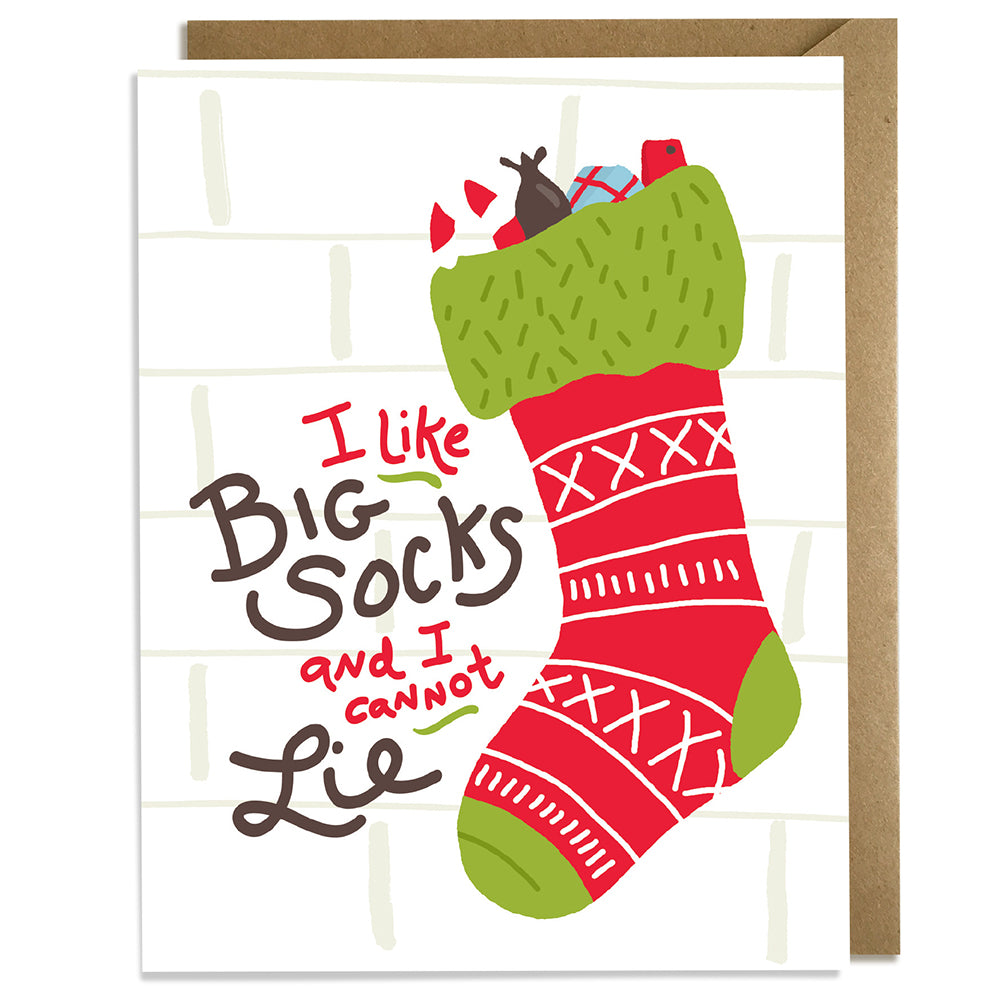 I Like Big Socks - Christmas Card