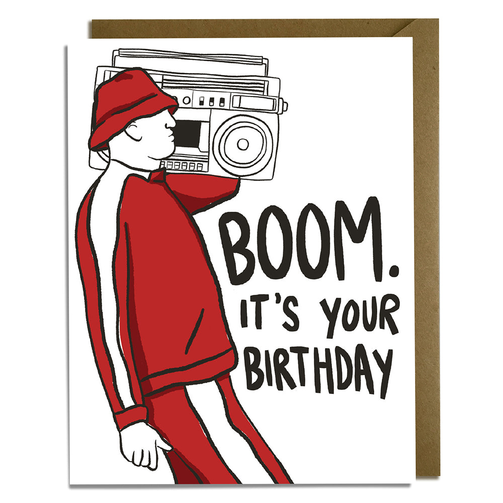Boom Box Birthday Card