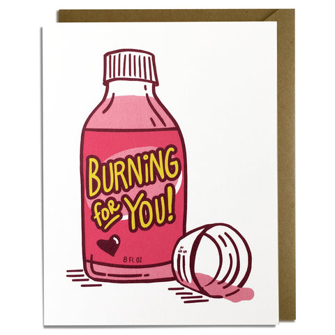 Burning For You - Love Card