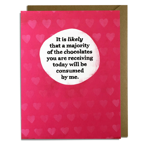 Candy Consumed - Valentine Card Wholesale