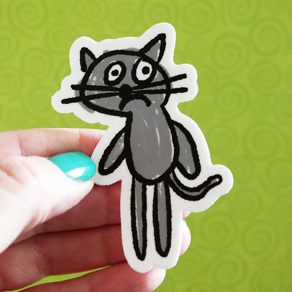 Anxious Cat Sticker