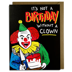 Birthday Clown Card Wholesale