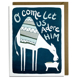 Come Adore Camel - Christmas Card