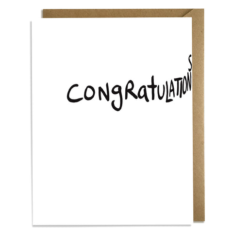 Congratulations is a Long Word - Congrats Card Wholesale
