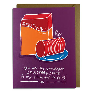Canned Cranberry Sauce - Thanksgiving Card Wholesale