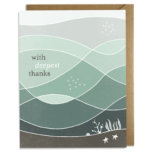 Deepest Thanks - Thank You Card