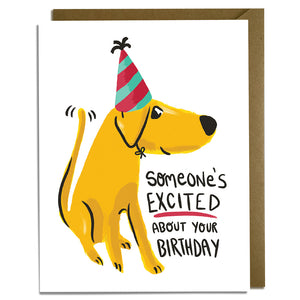Excited Dog Birthday Card