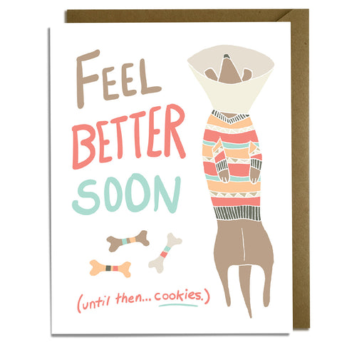 Feel Better Dog - Get Well Card