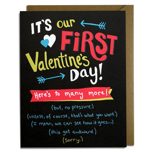 First Valentine's Day Card