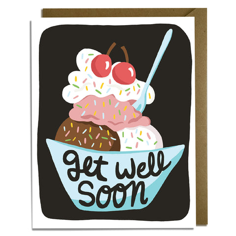 Get Well Sundae Card