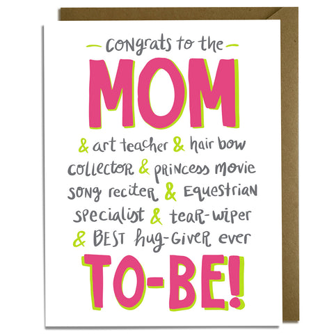 Girl Mom-to-Be - Baby Card
