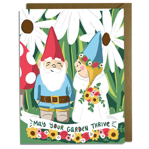 Gnome Garden - Wedding Card