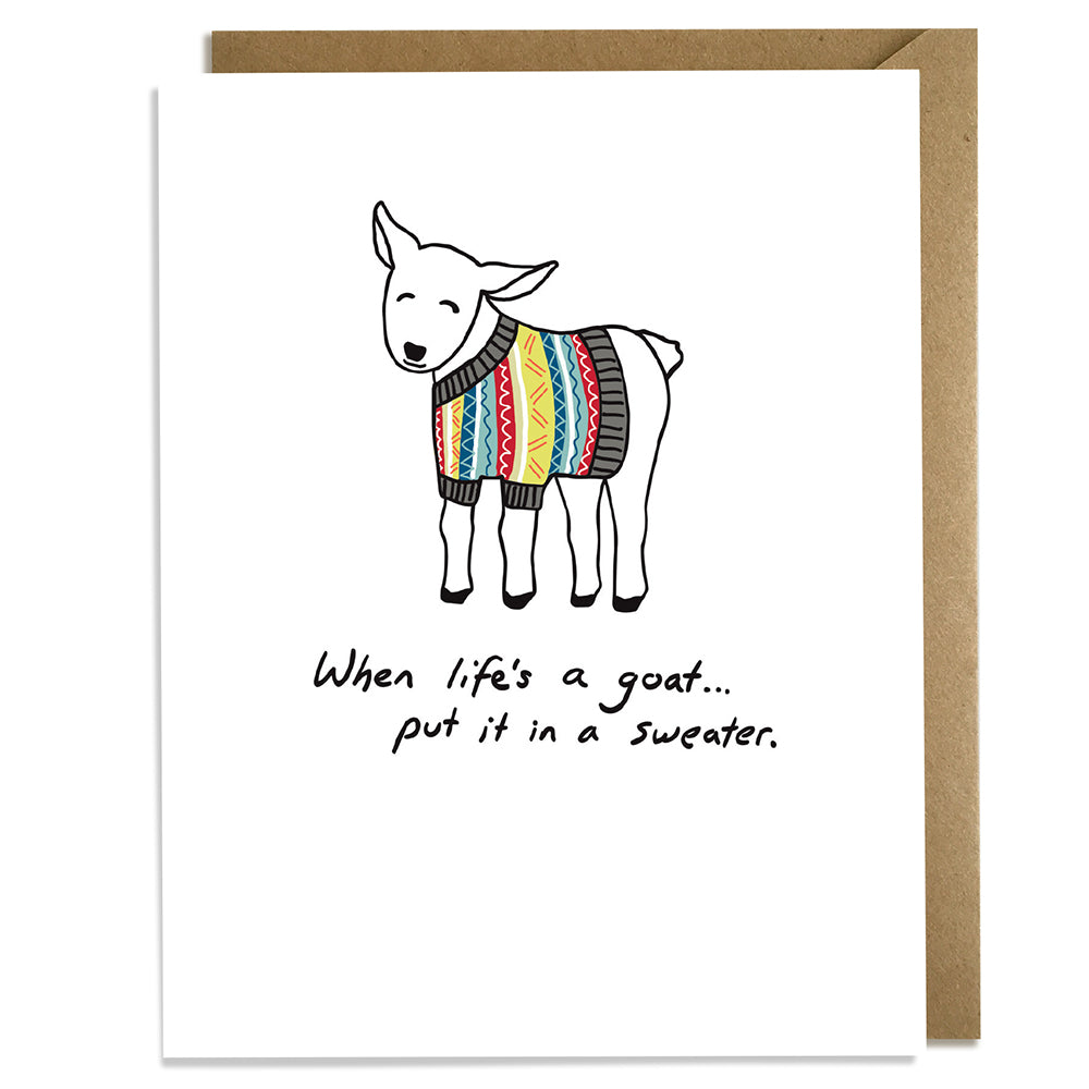 Goat Sweater - Encouragement Card
