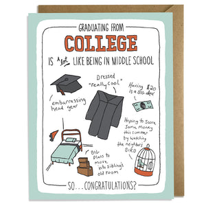 Graduating College - Grad Card