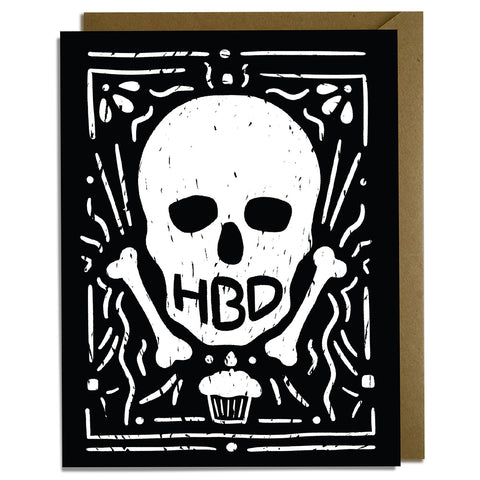 HBD Skull Birthday Card