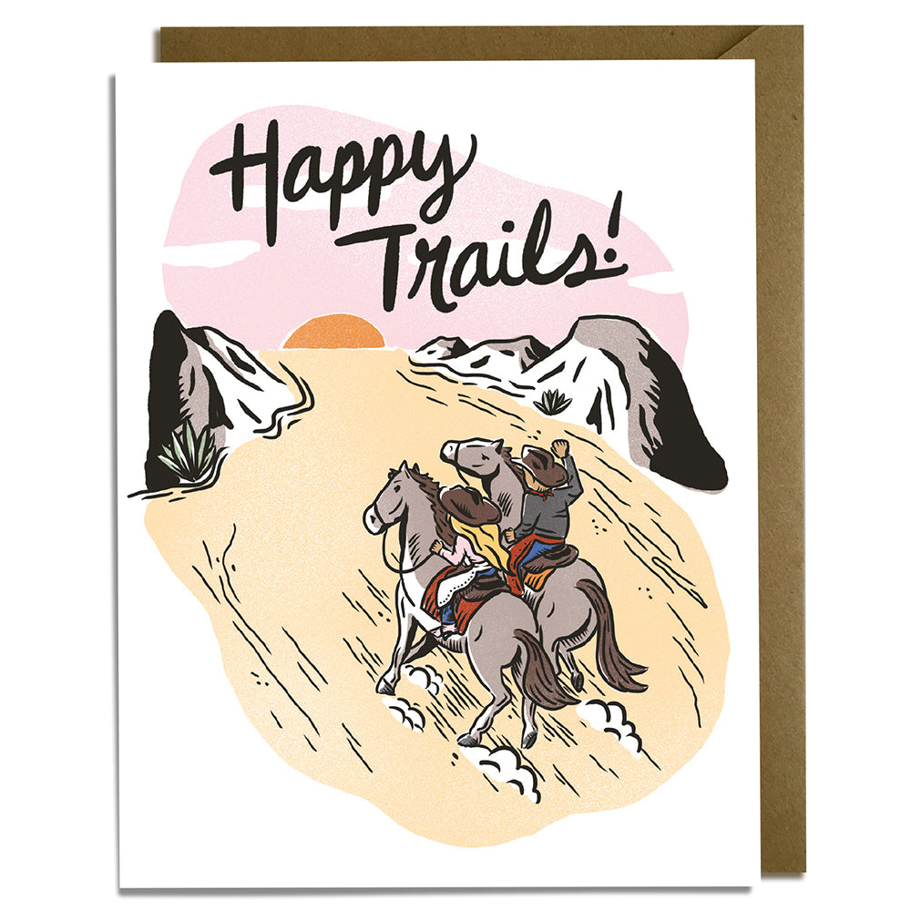 Happy Trails - Wedding Card