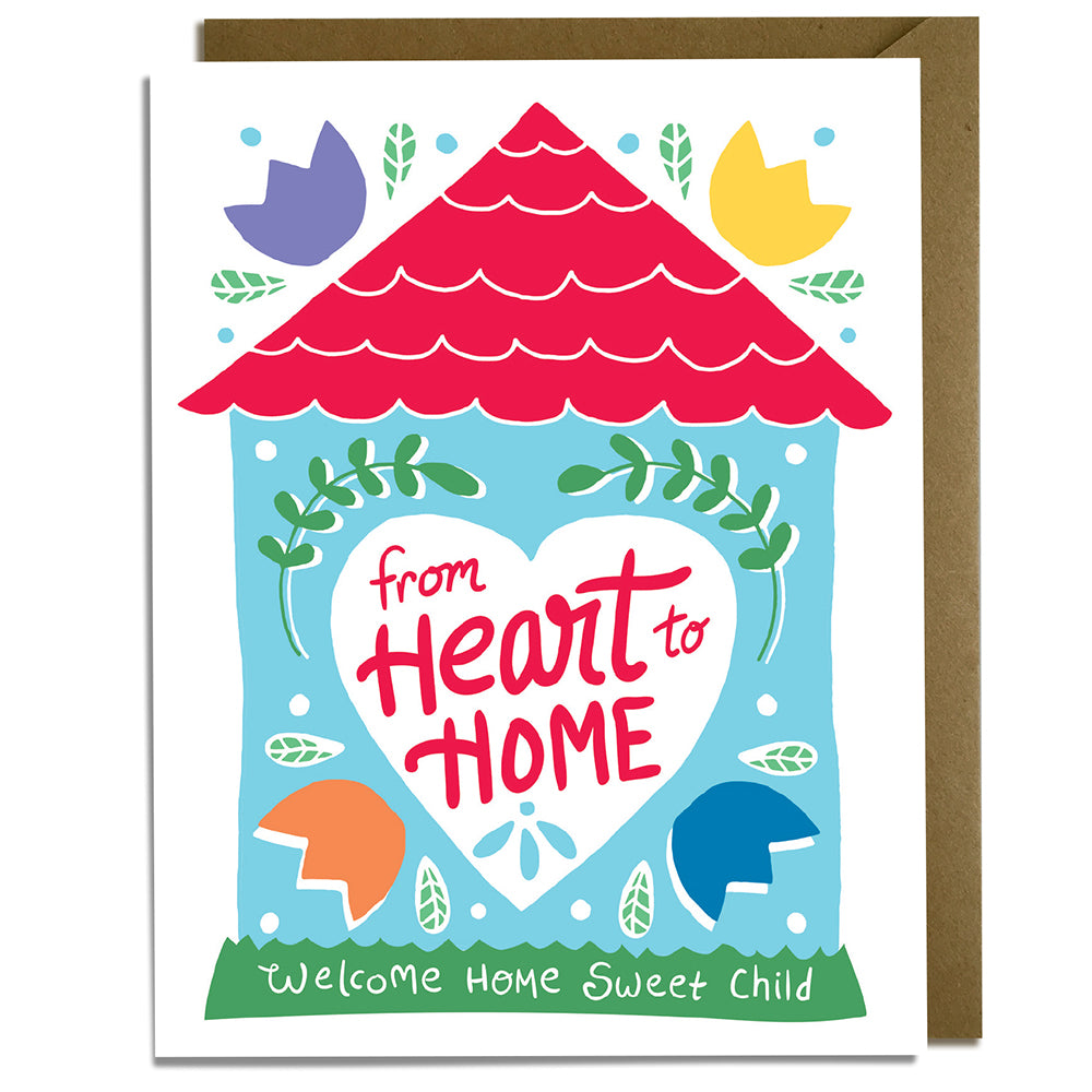 Heart to home adoption card kat french design