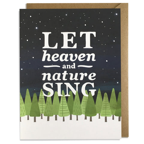 Heaven & Nature Sing - Christmas Card