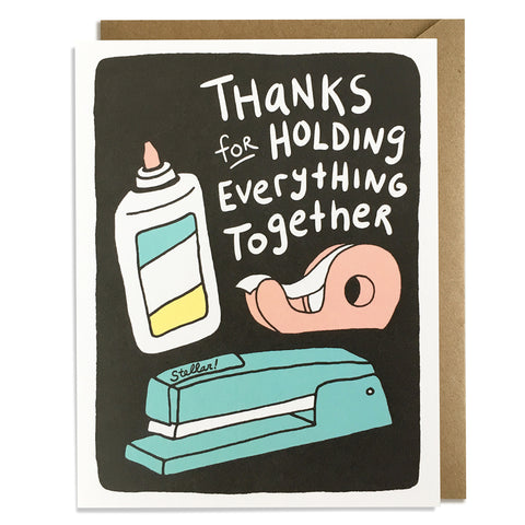Holding Everything Together - Thank You Card