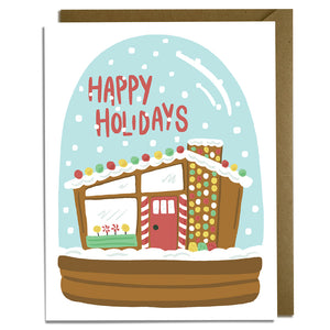 Holiday Snow Globe - Christmas Card