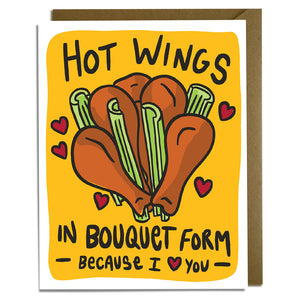 Hot Wings Love Card
