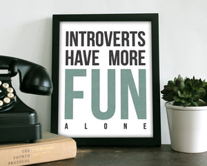 Introverts Blue - Art Print