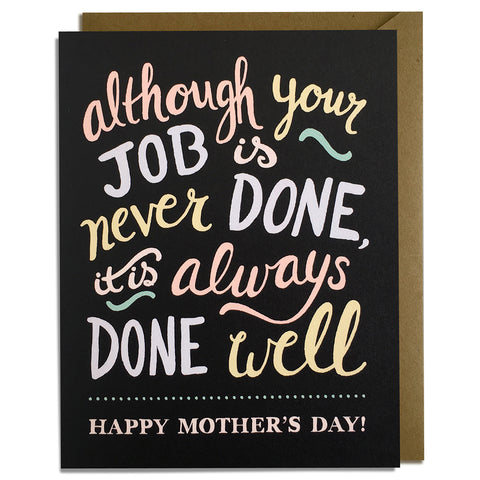 Job Done Well - Mother's Day Card