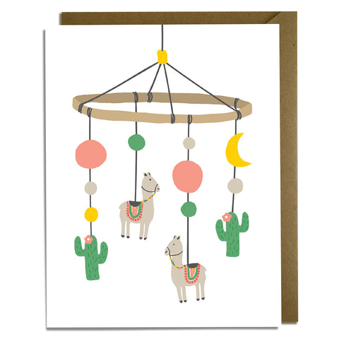 Llama Mobile Baby Card Wholesale