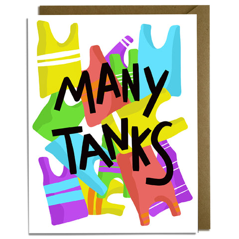 Many Tanks - Funny Thank You Card