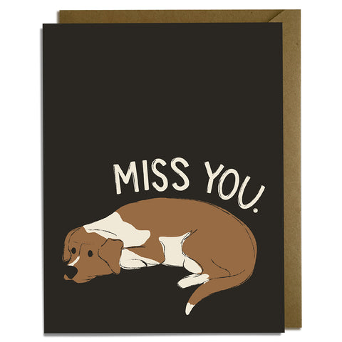 Miss You Dog - Miss You Card