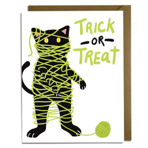 Mummy Cat - Halloween Card