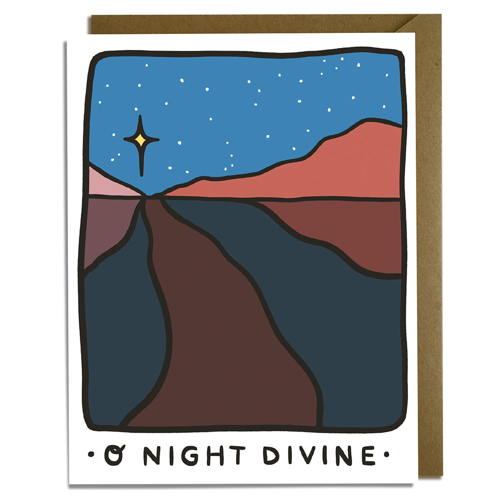 O Night Divine Desert - Christmas Card