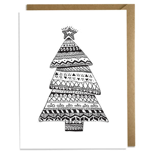 Nordic Christmas Tree - Christmas Card