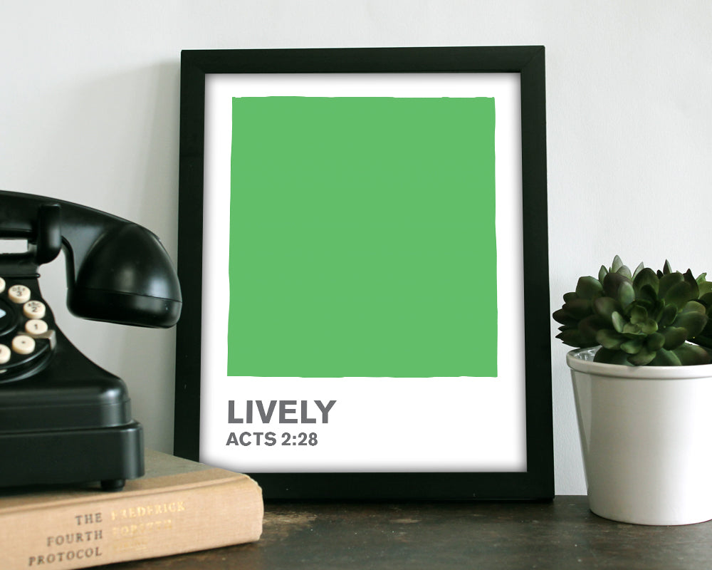 Lively Green Color Swatch- Art Print
