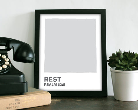 Rest Grey Color Swatch- Art Print