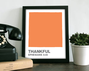 Thankful Orange Color Swatch- Art Print