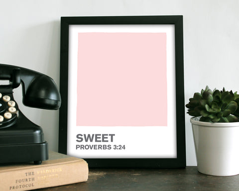 Sweet Pink Color Swatch- Art Print